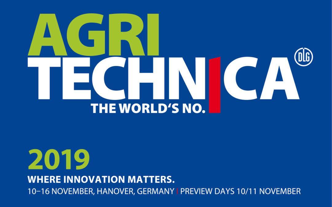 Treffen Sie uns auf der Agritechnica 2019